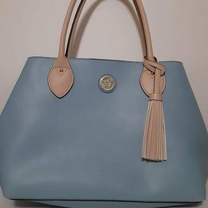 Anne Klein Baby Blue Tote Purse NWT